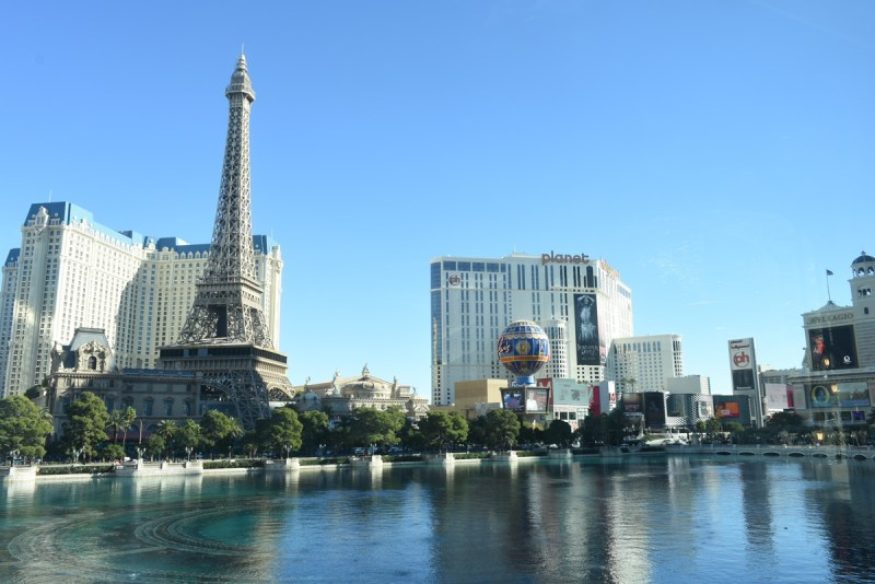 Paris Hotel and Casino from Lago by Julian Serrano at the Bellagio