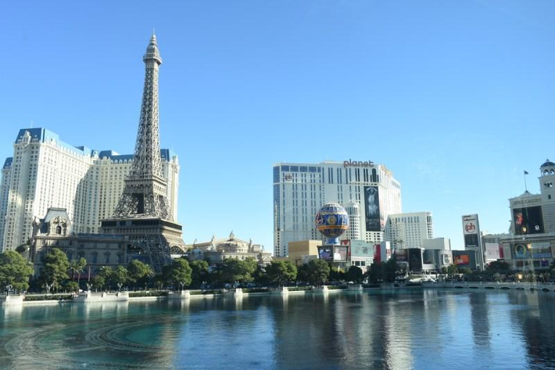 Paris Hotel and Casino from Lago by Julian Serrano at the Bellagio