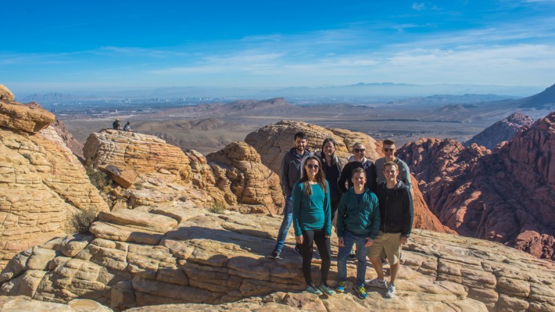 Red Rock Canyon Hike, view over Las Vegas