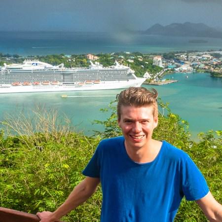 Veiw of Castries St Lucia