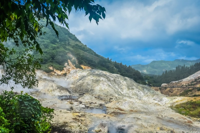 Sulphur Springs Drive in Volcano St Lucia
