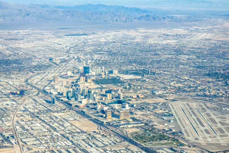 Las Vegas Strip from the plane