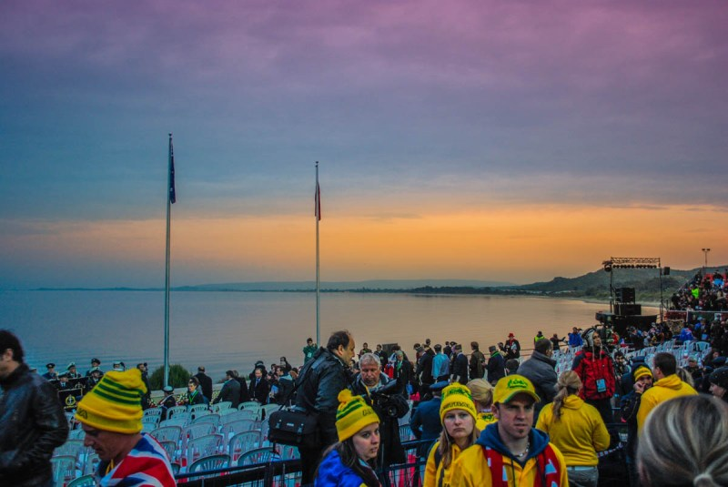 Sunrise at Gallipoli for Anzac Day