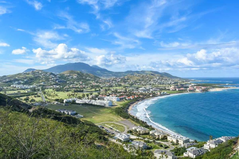 View looking north from Sir Timothy's Hill St Kitts