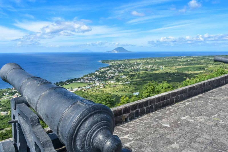 View over St Kitts from Brimstone Hill Fortress