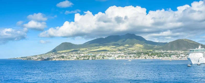 st kitts form the cruise ship