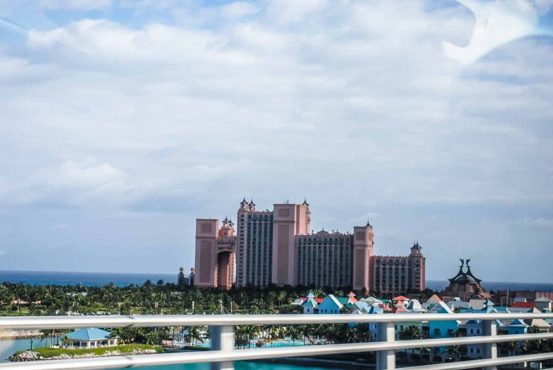 Atlantis Nassau Bahamas from the bridge