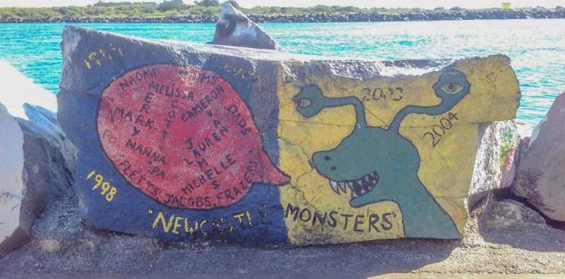 Port Macquarie rock painting