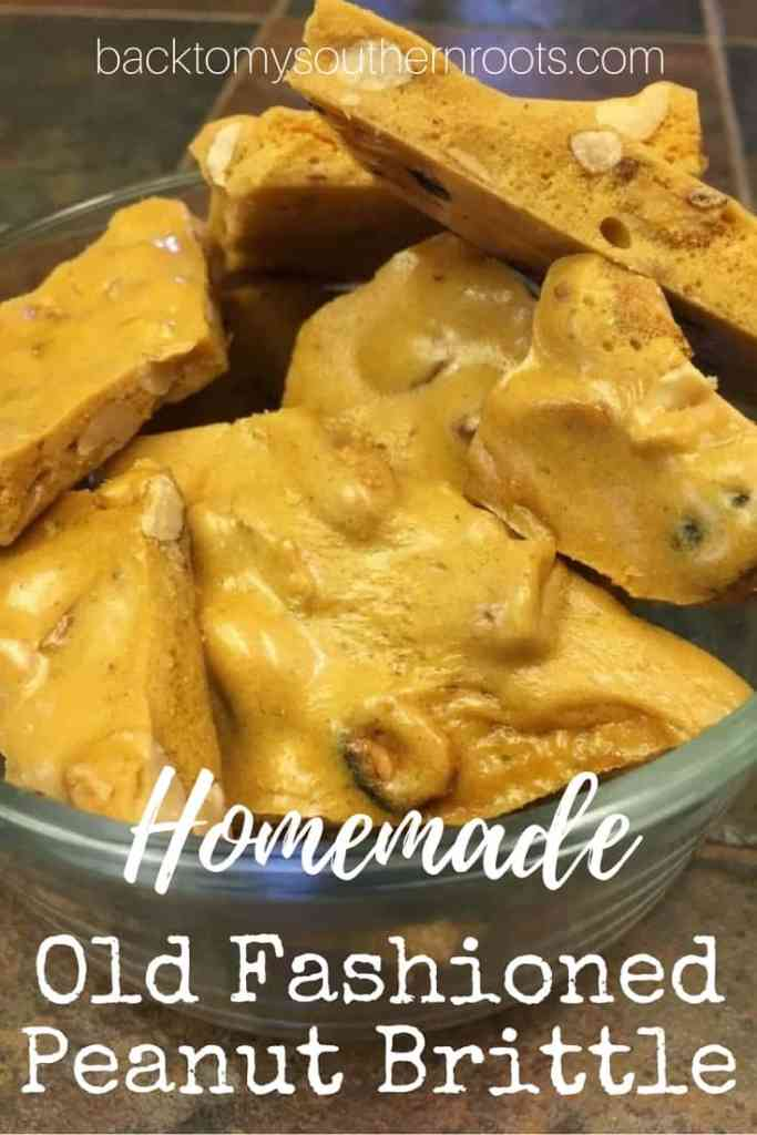 I love this easy recipe for homemade old fashioned peanut brittle. The recipe makes a great gift for teachers, friends, or anyone around the holidays.