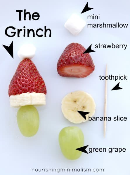 Grinch Kabobs from Nourishing Minimalism