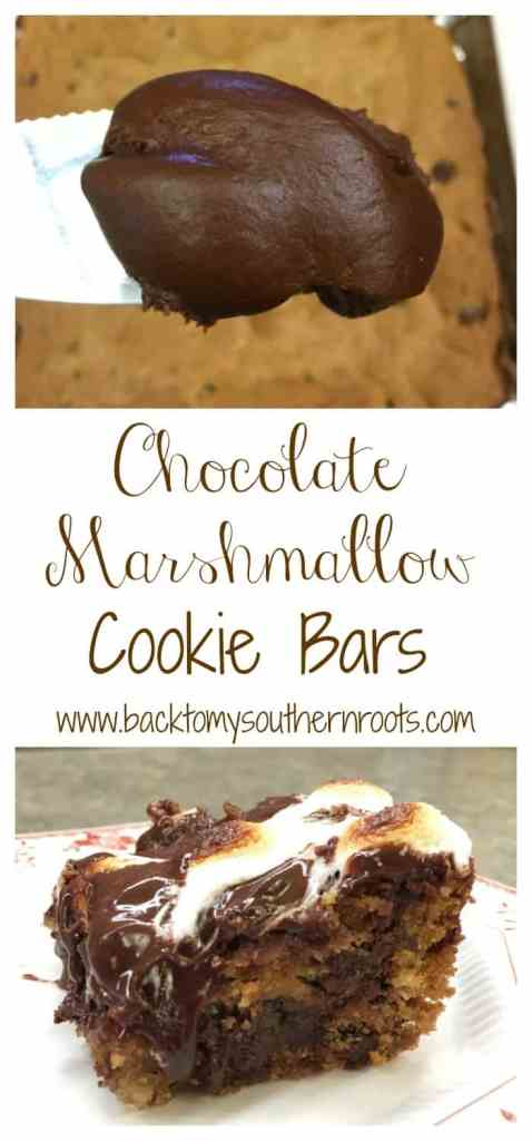 The Chocolate Mountain Marshmallow Cookie Bar is so simple and easy to make. It takes longer to cool off than to make.