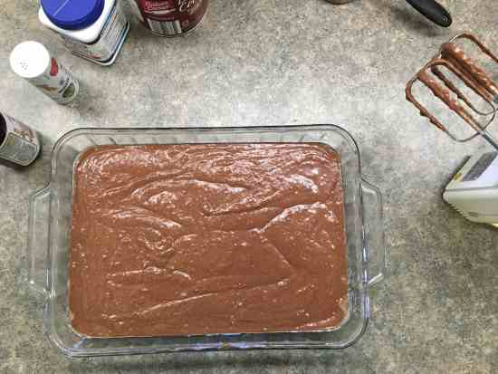 Try this recipe for easy homemade chocolate cake. It's a treat, and it's super simple to make.
