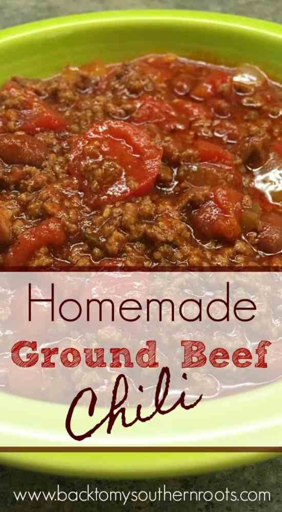 I made a pot of homemade ground beef chili with stuff I had around the house. It was easy and turned out delicious! Click on the link and grab the recipe today.