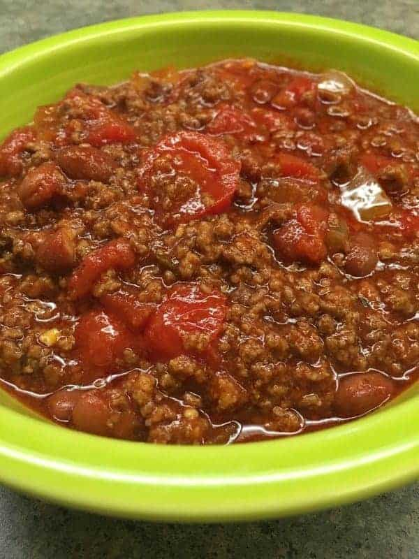 Homemade Chili recipe from scratch