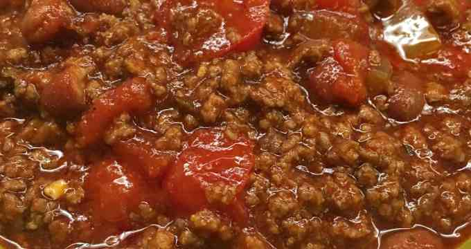 Homemade Ground Beef Chili