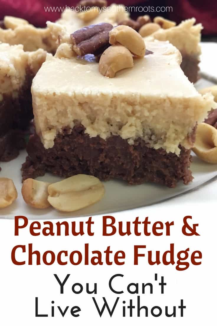 This is such an easy recipe for peanut butter and chocolate fudge. It's an old-fashioned recipe that has been around a long time with only a few ingredients. And, it's gluten free!