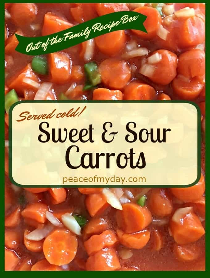 Sweet and Sour Carrots from Peace of My Day