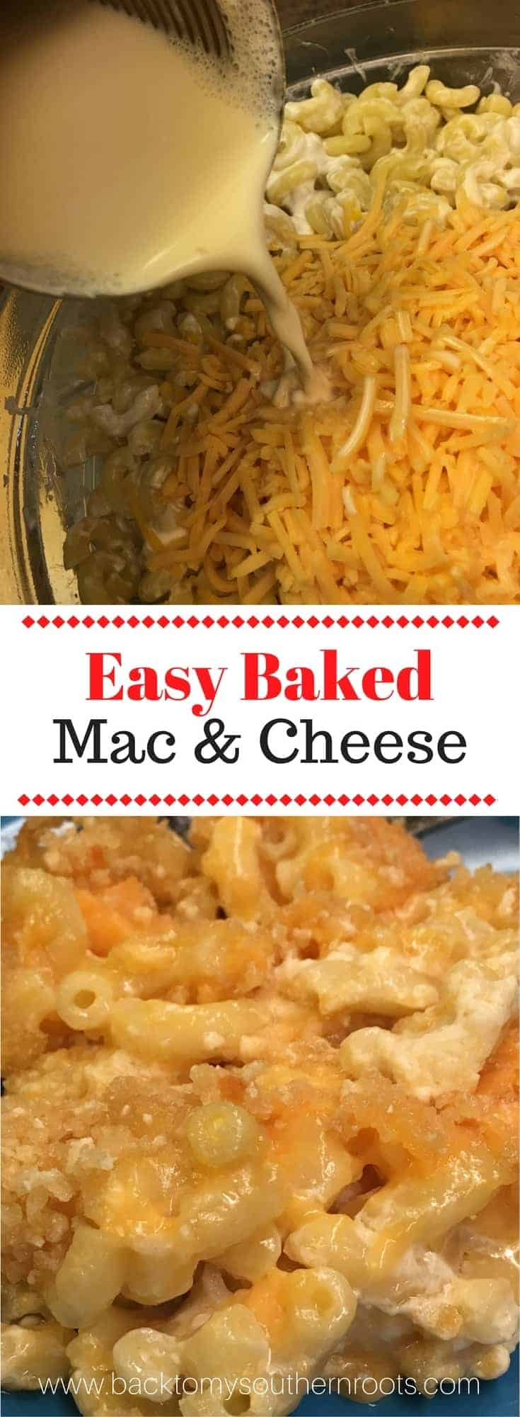 Easy Homemade Baked Macaroni and Cheese is an easy and cheap supper to fix. Itu0027s & Easy Homemade Baked Macaroni and Cheese