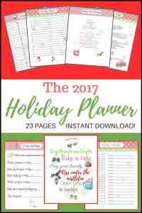 2017 Holiday Planner
