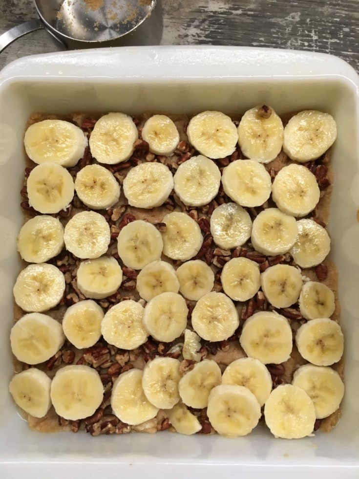 Praline Pecan Banana Bread is a rich and delicious dessert that everyone will love. Grab those ripe bananas and get ready for a tasty praline pecan treat.