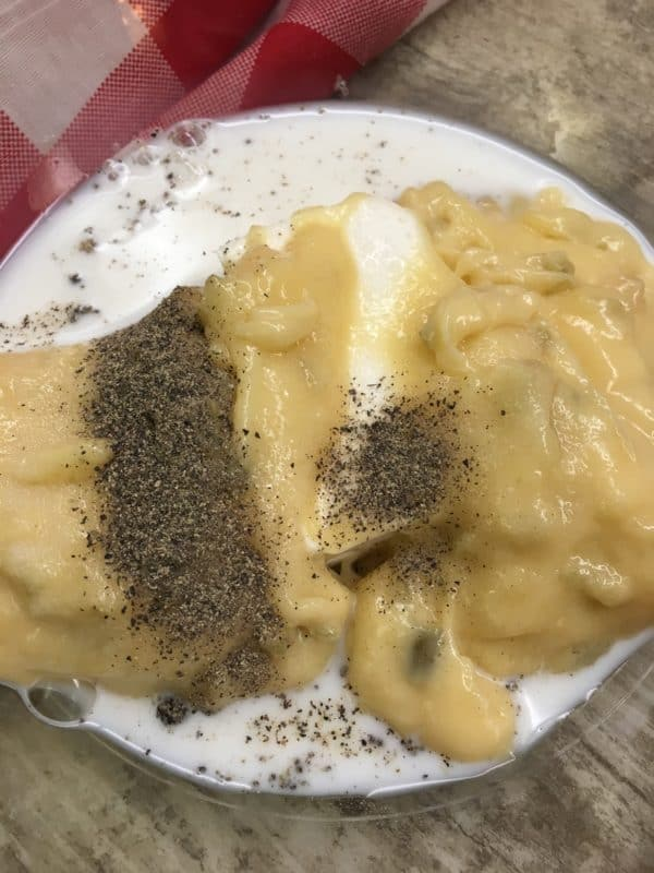 Baked Chicken and Gravy recipe with cream cheese, is an easy and budget-friendly oven meal. It will feed about 4 people. You can add some mashed potatoes on the side for some great comfort food. This is a great dinner for a cold winter night.
