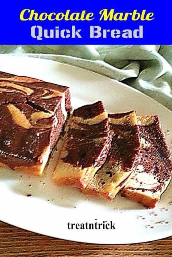 Chocolate Marble Quick Bread - Trick and Treat