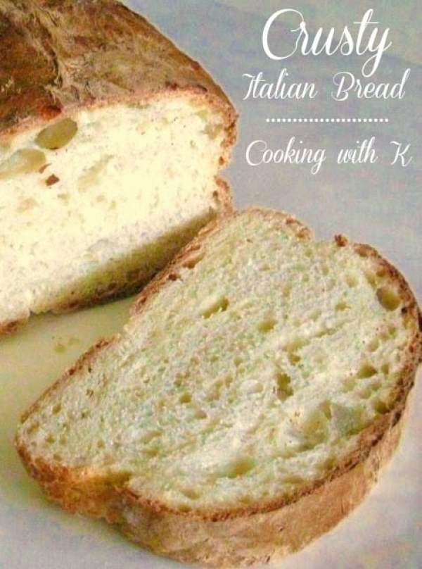 Crusty Italian Bread (C-r-a-z-y Easy To Make) Cooking with K