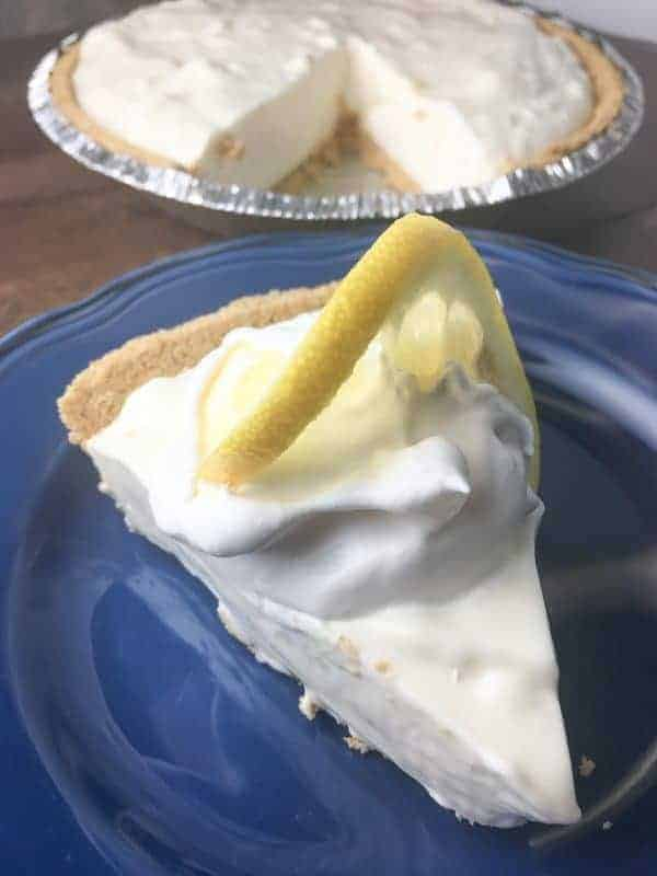 Easy lemon pie is a great recipe to make for the summer season