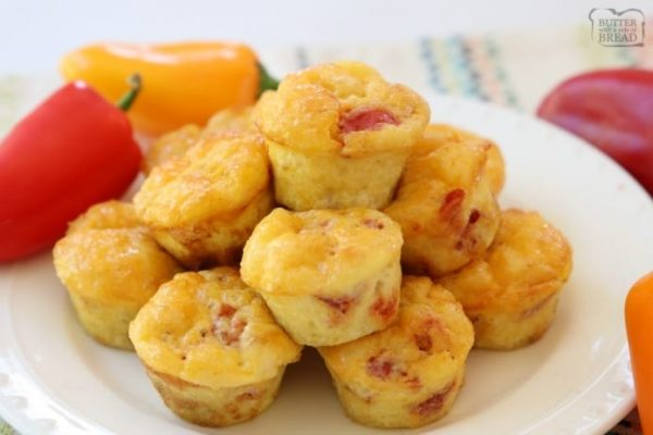 Fiesta Egg Bites from Butter with a Side of Bread