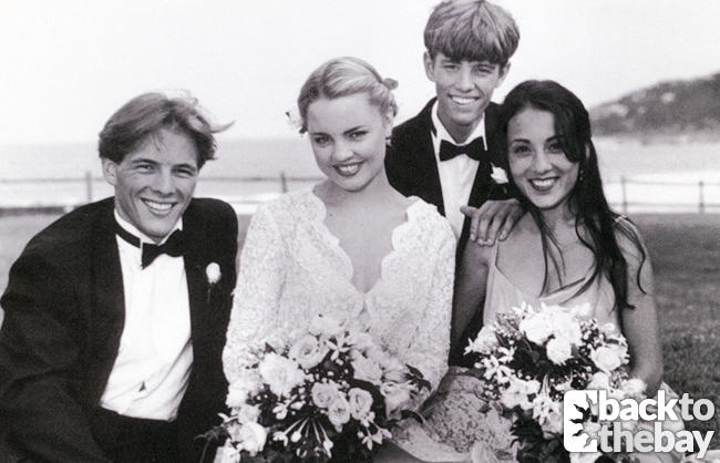 Dieter Brummer (Shane), Melissa George (Angel) , Laura Vazquez (Sarah) and Matt Doran (Damian)