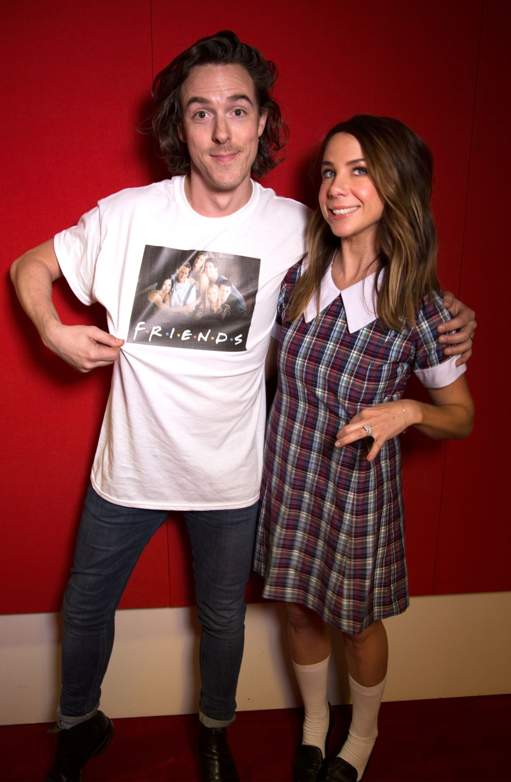 Tim Blackwell & Kate Ritchie in their 1996 outfits. Photo provided by Nova.
