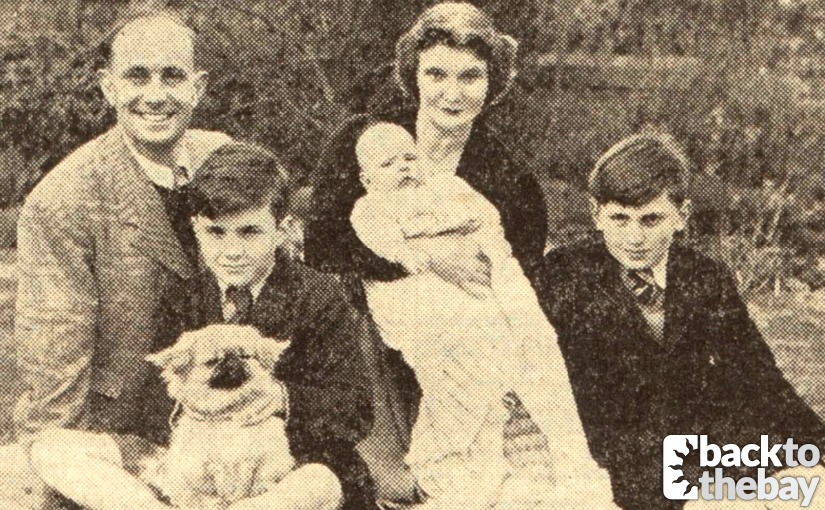 Peter in 1952 with his wife Margery, daughter Julia and stepsons Michael (left) and Christopher (right) ©D.C. Thomson & Co. Ltd. Image created courtesy of The British Library Board.