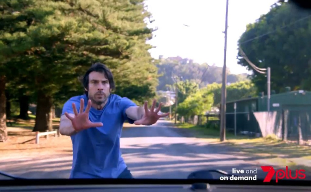 Ben jumps out in front of Maggie's car in upcoming Home and Away episodes