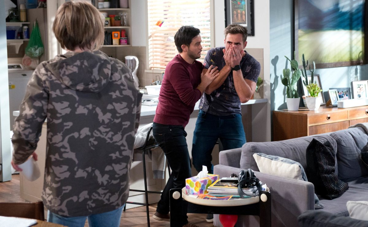 UK Neighbours Spoilers – Brent hits Aaron as tempers flare!