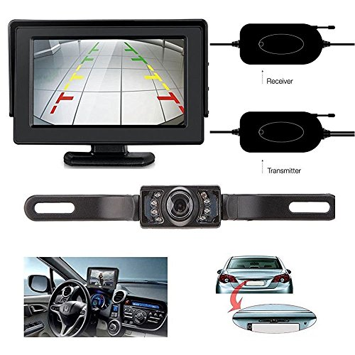ZSMJ Backup Camera and Monitor Kit For Car//Suv//Pickup//Truck//Van//RV//Trailer