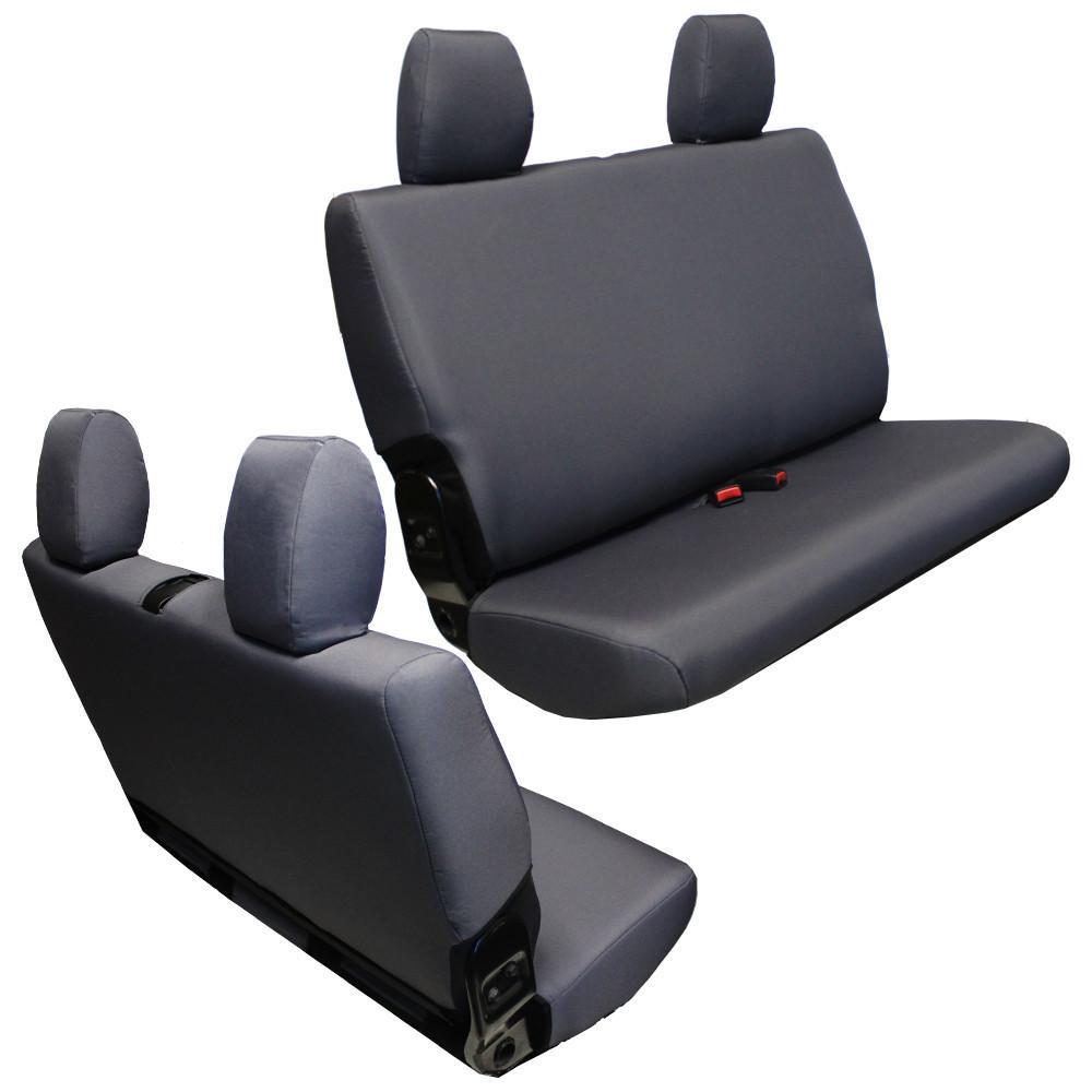 Jeep JK Seat Covers Rear Bench 13 17 Wrangler JK 2 Door Baseline  Performance Graphite