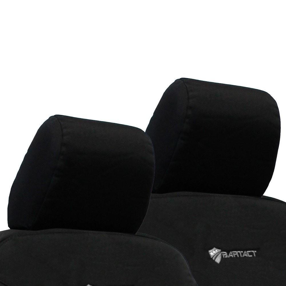 Jeep JK Bench Headrest Covers 07-10 Wrangler JK 2 Door Tactical Series Black Bartact