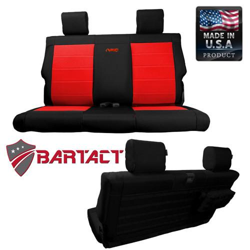 Jeep JK Seat Covers Rear Bench 11-12 Wrangler JK 2 Door Tactical Series Black/Coyote Bartact