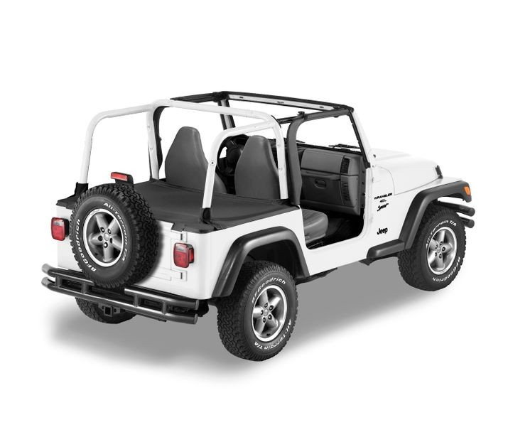 Jeep TJ Unlimited Duster Deck Cover w/Fact Hardtop Removed 04-06 Wrangler TJ Unlimited Black Diamond Bestop