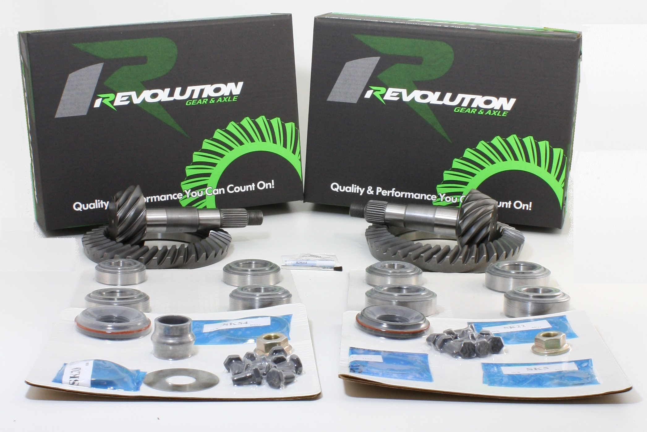 Toyota w/o factory locker 07-09 FJ 05 and Up Tacoma 03-08 4runner (8/8ifs) 4.88 Gear Package front and rear gears and master kits (thick front gear to fit 3.73 and down case) Revolution Gear