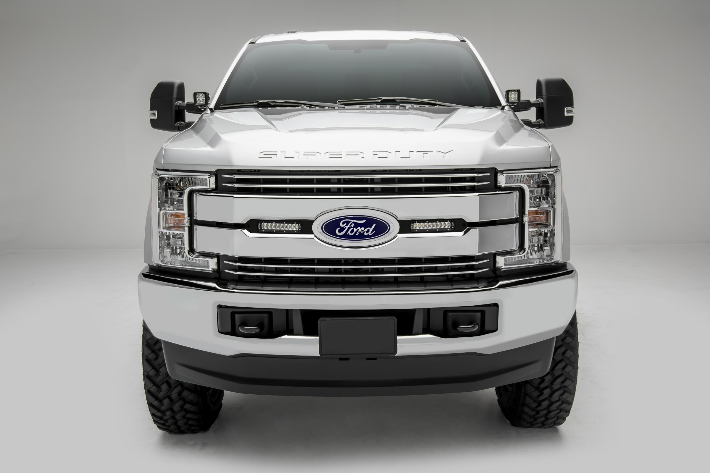oem grille led light bar mounts black 2017 ford f 350