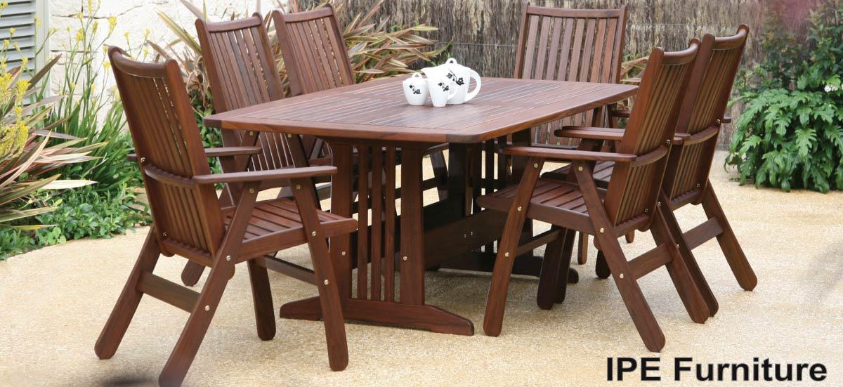 ipe furniture dining sets ipe hardwood