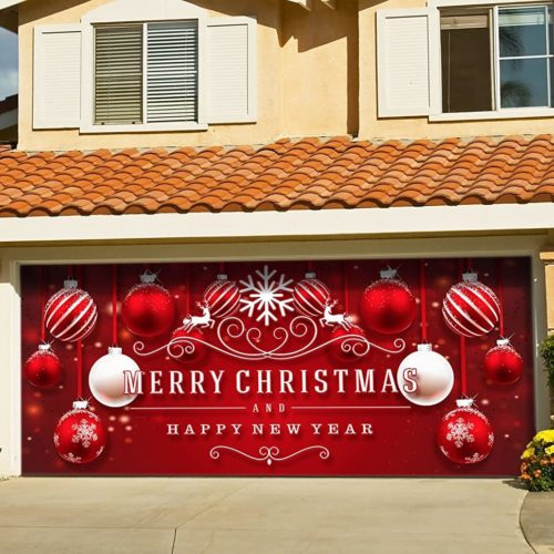 Victory Corps Outdoor Christmas Holiday Garage Door Banner e1602365059694