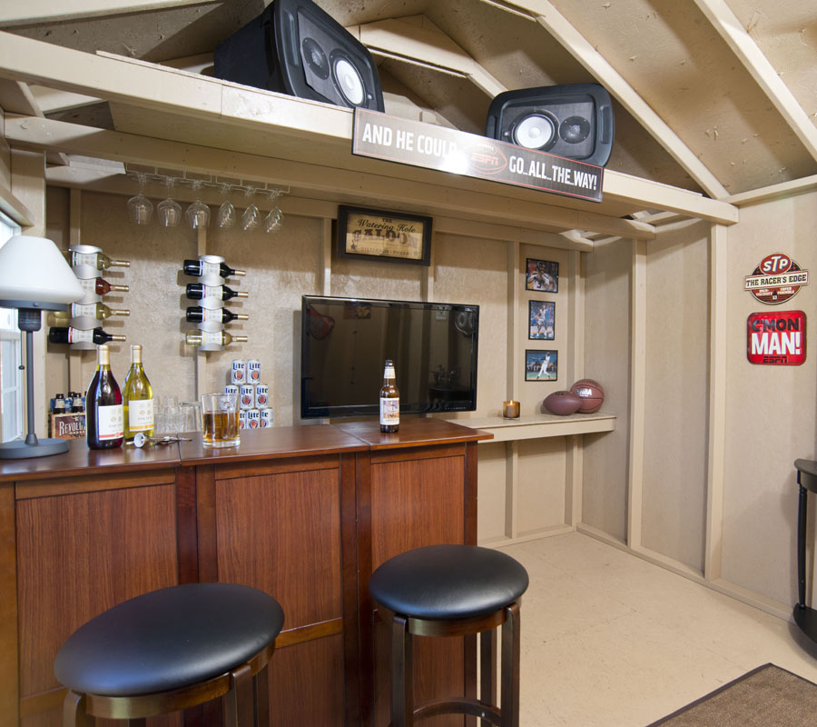 Man Caves Sheds Epic Designs Amp Ideas Backyard Buildings