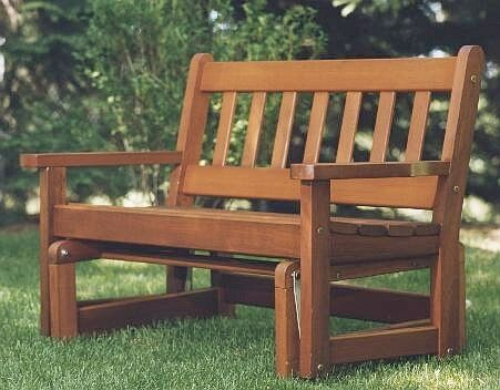 cedar glider bench plans