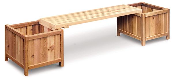 Cedar Planter Bench Plans