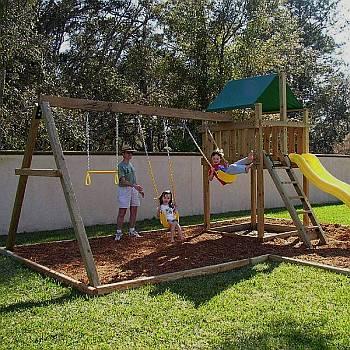 Wood Swing Set Kits Diy Swing Sets Custom Playset Kit Plans