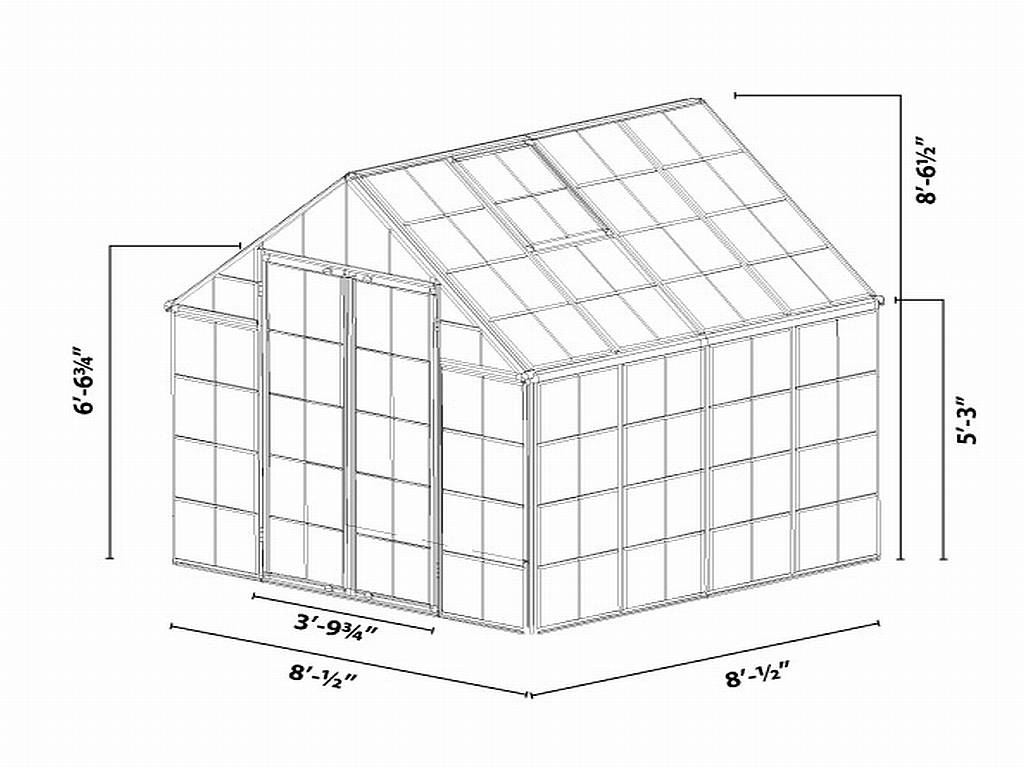 Snap Amp Grow Silver 8 X 8 Greenhouse