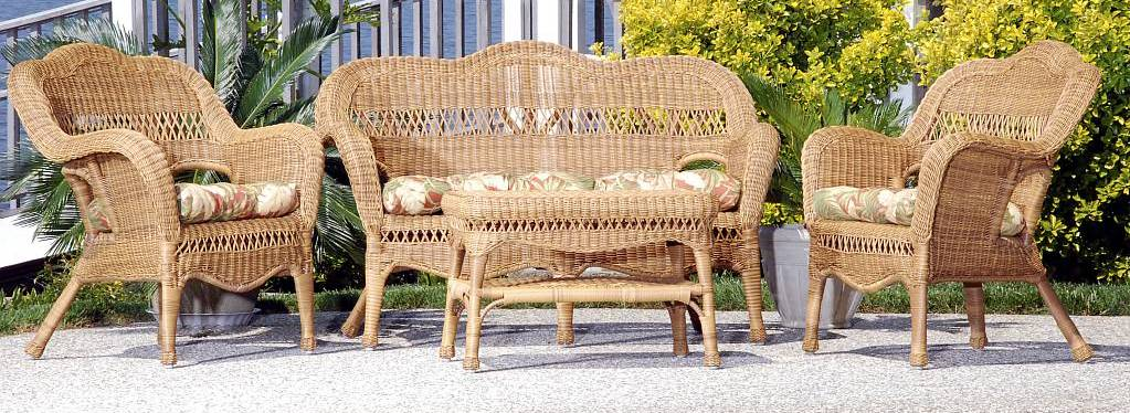 Sahara All Weather Resin Wicker Furniture Set   CDI 001 S 4  Click to Enlarge