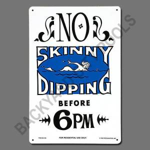Skinny Dipping Sign